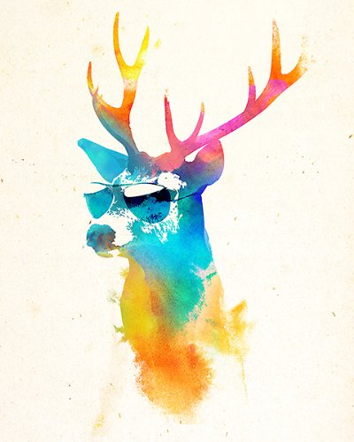 Sunny Stag by Robert Farkas Art Print Poster ""