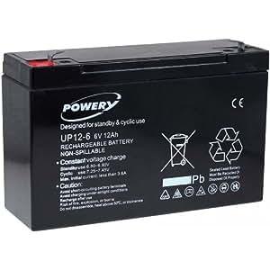 Batterie gel Powery pour vehicle pour enfant, voiture pour enfant, quad pour enfant 6V 12Ah (remplace aussi 10Ah)