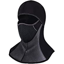 UniqueBella–resistente al viento de esquí máscara cara completa pasamontañas invierno polar cuello calentador wind-protection calavera sombrero, Face Mask
