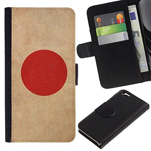 Graphic4You Vintage Uralt Flagge Von Philippinen Philippinische Design Brieftasche Leder Hülle Case Schutzhülle für Apple iPhone 6 / 6S Japan Japanisch