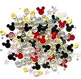 Buttons Galore Sparkletz Magical - Gemas acrílicas Transparentes, Lentejuelas, Perlas de Fondo Plano - 3 Paquetes de 36 Gramos
