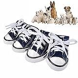 JIAEN ejiaen Pet Dog Puppy Canvas Sport Schuhe Sneaker Stiefel, Outdoor Nonslip Ursächliche Schuhe, Gummi Sohle + Weiche Baumwolle Innenmaterial Stoff