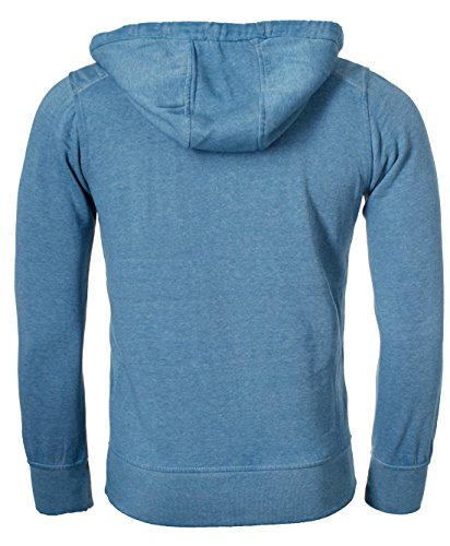 Key Largo Herren Sweatjacke Release Vintage Look Slimfit Sweatshirt Hoodie jacket Sweater Pullover mit Kapuze Kapuzenpullover Petrol