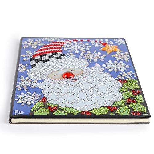 Everpert DIY 5D Diamant Mosaiken Malen Notebook A5, Schreiben Notizbuch Tagebuch Mädchen Skizzenbuch Erwachsene Notizblock A5 5D Full Diamant Painting Art Kreative Geschenk für Weihnachten -