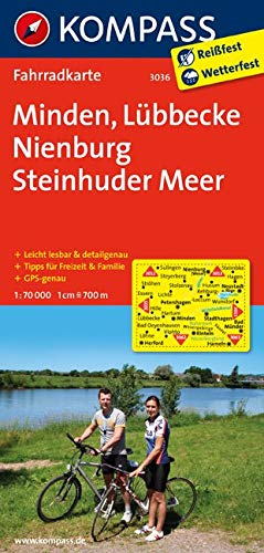 KOMPASS Fahrradkarte Minden - Lübbecke - Nienburg - Steinhuder Meer: Fahrradkarte. GPS-genau. 1:70000: Fietskaart 1:70 000 (KOMPASS-Fahrradkarten Deutschland, Band 3036)