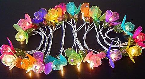 UK STOCK Ladybug Fairy Light String LED Clear Wire 220V