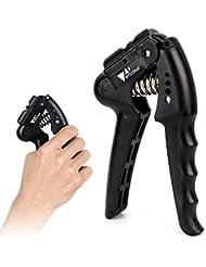 Hand Grip Amzdeal Exerciseur à main10-40kg Réglable avec Ressort pour Musculation de poignée, Renforcement de l'avant-bras
