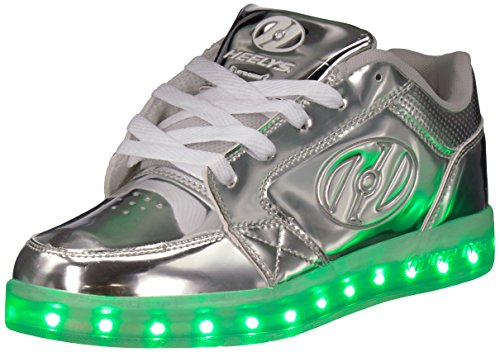 Heelys Unisex Adults Premium 1 Lo Trainers, Silver (Silver Chrome), 6 UK 39 EU