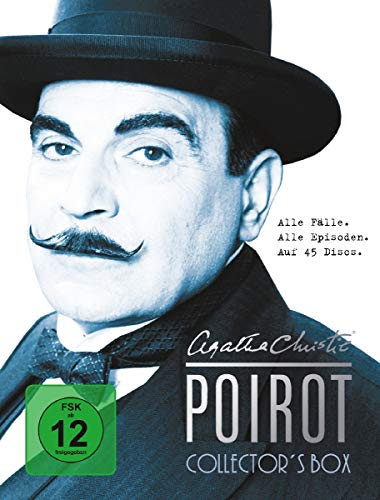 Agatha Christie - Poirot Collector's Box - Alle Fälle. Alle Episoden. (45 DVDs)