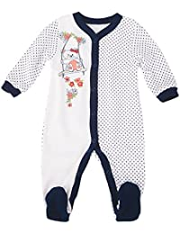 Para Ropa Infantil Pelele Blanco con dunkelblauen tupfern aufdruck 0307