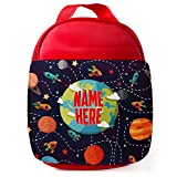 Best Kids Lunches On The Planets - Personalised Space Planet Lunch Bag Children's Insulated Red Review