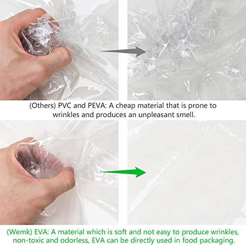 Imagen para Wemk Protector de Lluvia para Silla de Paseo, Cubierta de Lluvia para Cochecitos, con 3 Ventanas de Ventilación, Transparente Burbuja de Lluvia de Material de EVA - Tamaño Grande