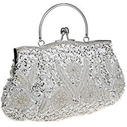 Bolso de Novia con brillos en tono plateado - varios modelos a elegir