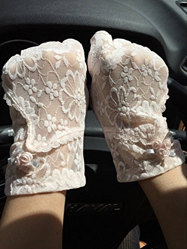 Withered-lace Gloves - Gant - Femme Taille unique rose clair