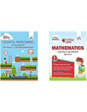 Perfect Genius Logical Reasoning Activity Workbook for Class 1, 2 & Olympiad Exams + Olympiad Champs Mathematics Class 1 with Past Olympiad Questions - Set of 2 Books