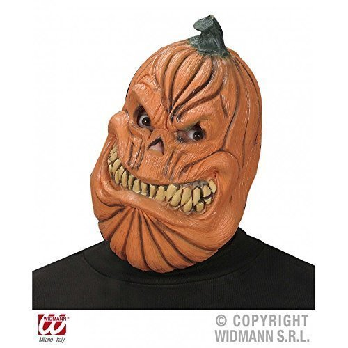 Kürbis Maske / Latexmaske / Halloweenmaske / Kürbiskopf / Halloween / Fasching / Halloweenkürbis