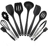 Conjunto de utensilios de cocina, utensilios de cocina de silicona Juego de 10 piezas Set de utensilios antiadherentes resistentes a los golpes, no tóxicos Conjunto de utensilios de cocina universales