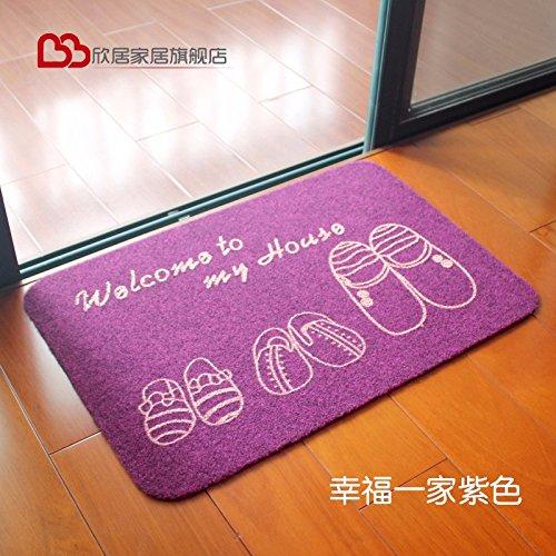 Liuxinda-dt antiskid mat zerbino zerbino acqua sanitaria bagno cucine e bagni pad 50 * 80cm,viola/