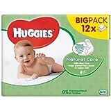 Huggies Soins Naturels Lingettes Pour Bébé 12 X 56 Par Paquet