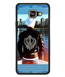 PrintVisa Khanda Sahib High Gloss Designer Back Case Cover for Samsung Galaxy A3 (6) 2016 :: Samsung Galaxy A3 2016 Duos :: Samsung Galaxy A3 2016 A310F A310M A310Y :: Samsung Galaxy A3 A310 2016 Edition