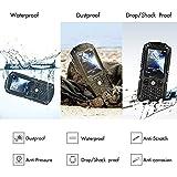 IceFox (TM) Dual Sim Outdoor Handy,2,4 Zoll Display,IP68 Wasserdicht,Stoßfest, Rugged Handy Ohne Vertrag mit Lautem Lautsprecher und Fahrradlicht - 3