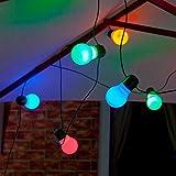 Auraglow 10Stück Solar LED Soffitte Laternen Lichterkette Lichterkette Retro Garten Lampen–Multi Color Cover