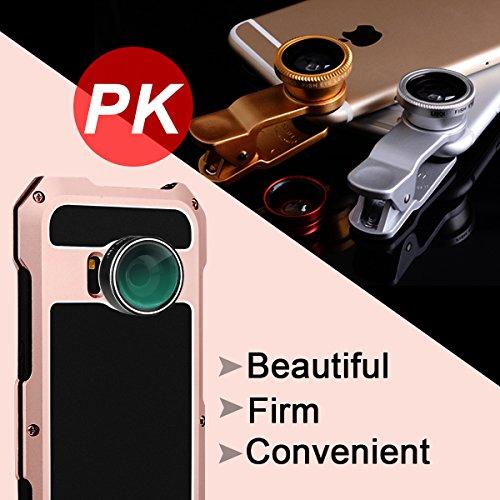 Suntapower Galaxy S8 Kit Custodia Impermeabile Con 3 Lenti Cellulari,Ultra Sottile e leggero IP 54 360 Grado Alluminio Waterproof e Full Sealed Antiurto Antipolvere Cover Case per Samsung Galaxy S8,ne Rose Gold