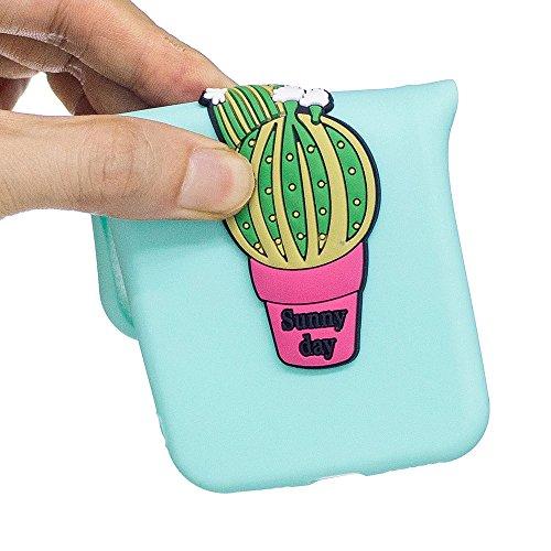 "iPhone 7 / iPhone 8 (4.7"") Hülle, BENKER Hochwertigem Neu Kreativ 3D Karikatur Durable TPU Silikon Kratzfeste Stoßfest Rutschfeste Handyhülle - Flamingo Kaktus"
