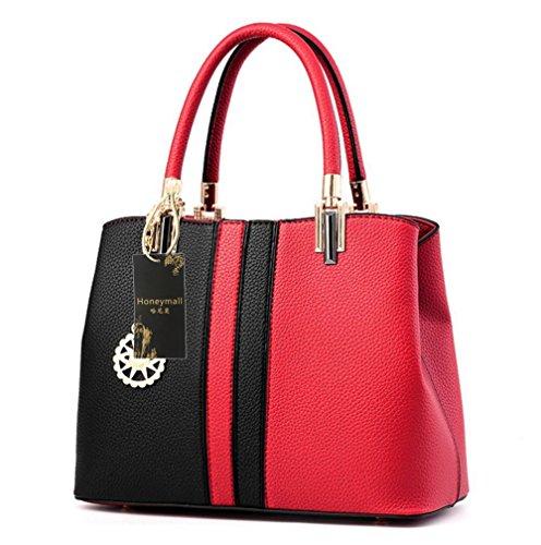 Honeymall borse a mano donna Strisce Rosa grigio Nero Rosso Falsificación De Descuento TBgSl5