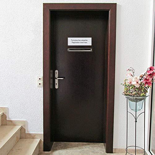 Rottner Briefkasten Teramo Edelstahl, mit Einwurfmöglichkeit von vorne und hinten, Zylinderschloss mit 2 Schlüssel, Zaunbriefkasten - 7