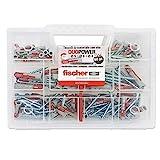 Fischer 544546 Kit Duopower Tasselli Universali con Vite, Trasparente