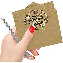 50 Tarjetas de Agradecimiento con Sobres para boda