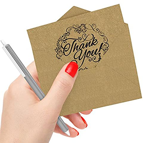 50 Pfiffige Dankeskarten mit Umschlägen: Die besten personalisierten Karten zur Hochzeit, Schulabschluss, Brautparty, Babyparty, Geburtstag und Weihnachten