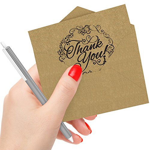 50 Count Krafty Thank You Cards  Envelopes: Best