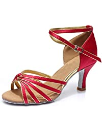 misu - Zapatillas de danza para mujer, color Negro, talla 35.5