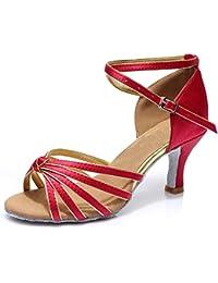 misu - Zapatillas de danza para mujer negro negro, color marrón, talla 36.5