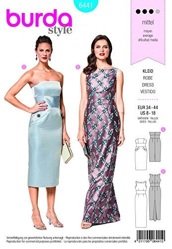 Burda Damen Schnittmuster 6441besonderen Anlass Gewand Kleider (Besonderen Anlass Kleid Muster)
