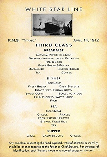 rms-titanic-third-class-menu-april14-1912-wonderful-a4-glossy-art-print-taken-from-a-rare-vintage-cr