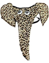 SODIAL(R) Sexy Maenner Unterwaesche Tasche Elefanten Slip-Zapfen G-String Lustige Liebhaber-Geschenk Leopard