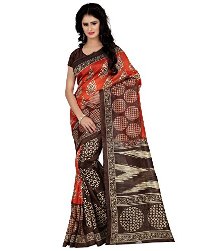 Trendz Style printed bhagalpuri silk saree(TZ_1197_A)  available at amazon for Rs.449