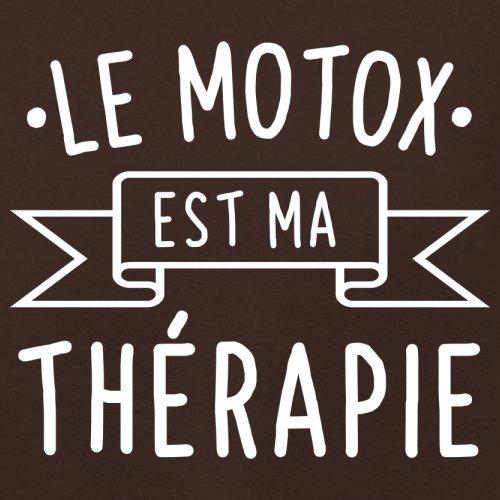 Le motox est ma thérapie - Femme T-Shirt - 14 couleur Marron Foncé