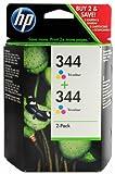 HP C9505EE - Pack de 2 cartuchos de tinta HP 344