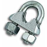 Chapuis VSC3 Lot de 2 Serre-câbles étrier acier zingue pour Câble D 8 mm