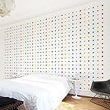 Apalis Kindertapeten Vliestapeten Nummer UL748 Little Dots Fototapete Breit | Vlies Tapete Wandtapete Wandbild Foto 3D Fototapete für Schlafzimmer Wohnzimmer Küche | mehrfarbig, 94753