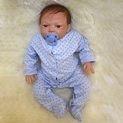 Inovey 18 ' ' African American Ethnische Lebensechte Reborn Baby Doll Body Silikon Newbon Boy Toys