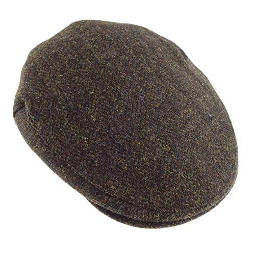 Para Fleck Taille Boina Unique Tweed Hombre Brown Marrón Harris MVGqSUpjLz