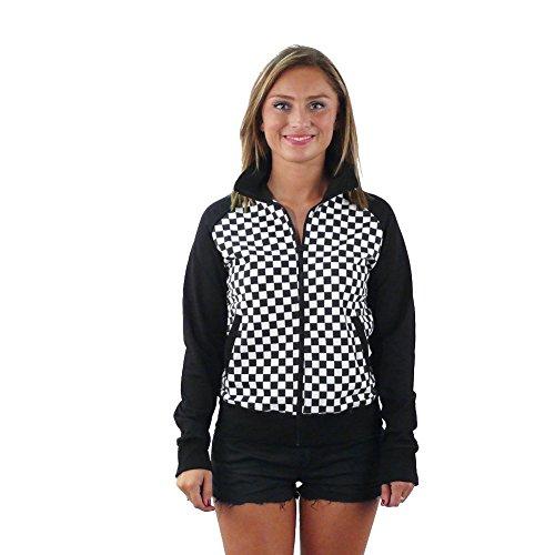 Rockabilly Damen Strickjacke Zipper l Übergangsjacke l Rautenmusterl 3 Farben erhältlich l 80% Baumwolle 20% Polyester l S M L (S/M, 14212-141)