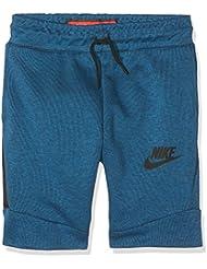 Nike Niños Tech Fleece Pantalones cortos, verano, infantil, color Industrial Blue/Black, tamaño extra-small