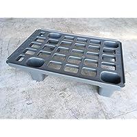 Fácil palé 60x 40Plástico palé en 1/4de Palets métrica Incluye ZOLLSTOCK* cuarto de palé