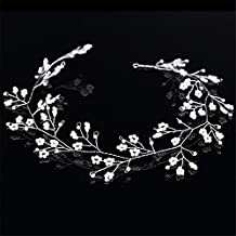 Weddwith Pelo Adornos Nupcial tocado estilo novia perlas hecho a mano tocado vestido bata accesorios para